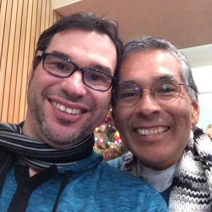 Scott and loving husband Mark Guzman